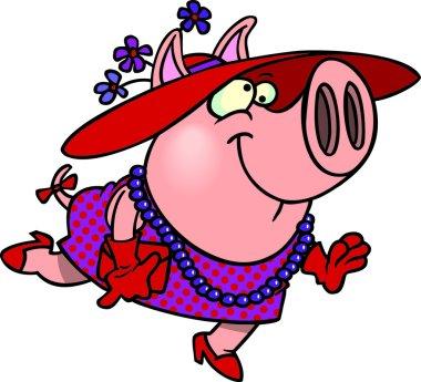 Cartoon Miss Pig