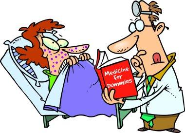 Cartoon Inexperienced Doctor