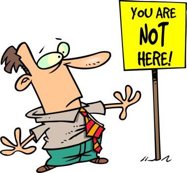 Cartoon Confusing Sign