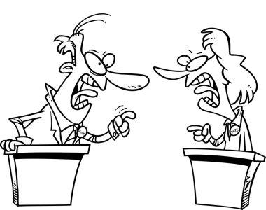 Cartoon Political Debate