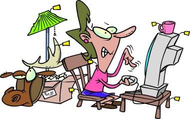 Cartoon Online Auction Addict