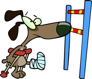 Cartoon Dog Hurdle