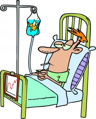Cartoon Hospital Patient