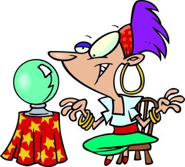 Cartoon Gypsy Fortune Teller
