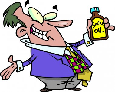 Cartoon Snake Oil Salesman