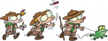 Cartoon Boy Scouts