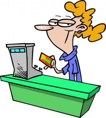 Cartoon Sales Clerk
