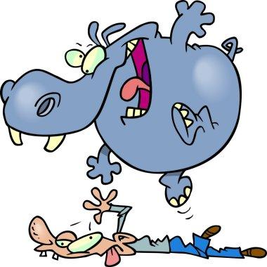 Cartoon Hippo Massage