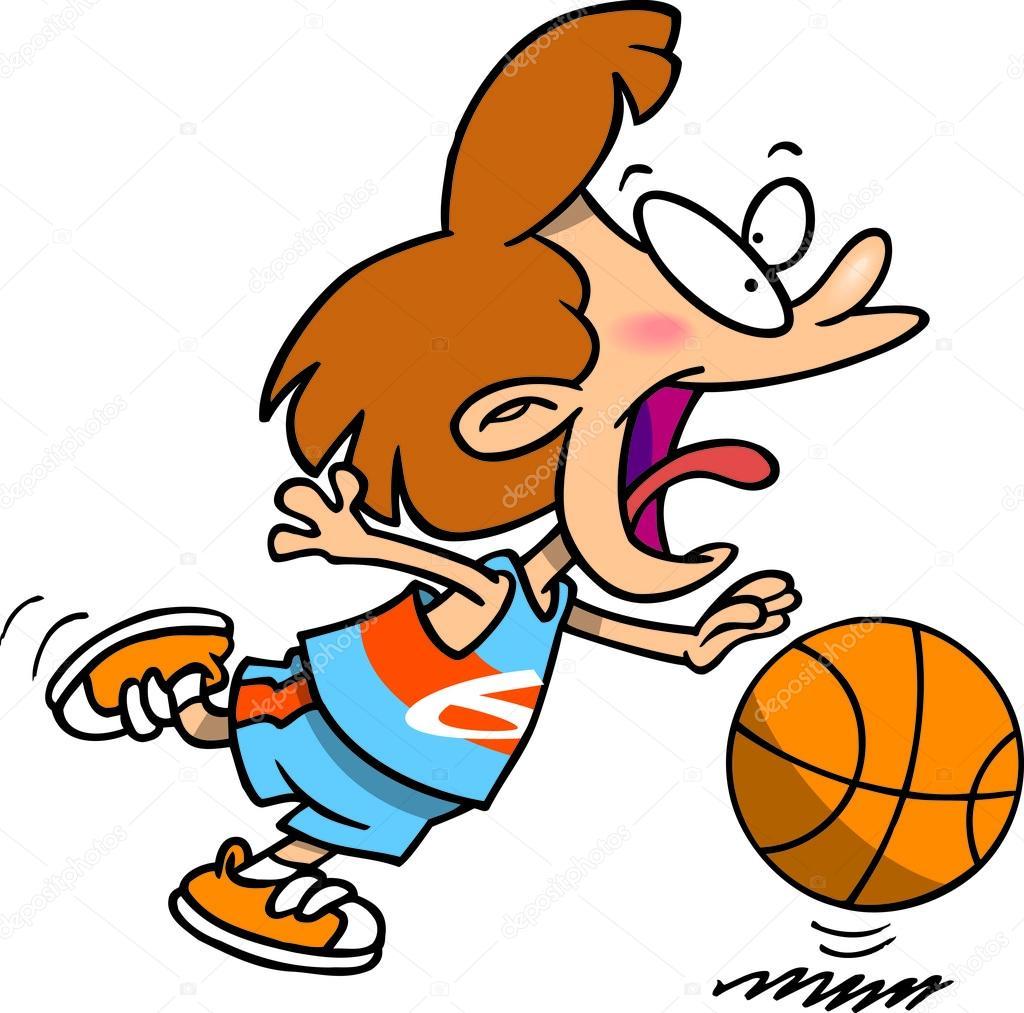 Cartoon Basketball Girl Stock Vector C Ronleishman 13941448