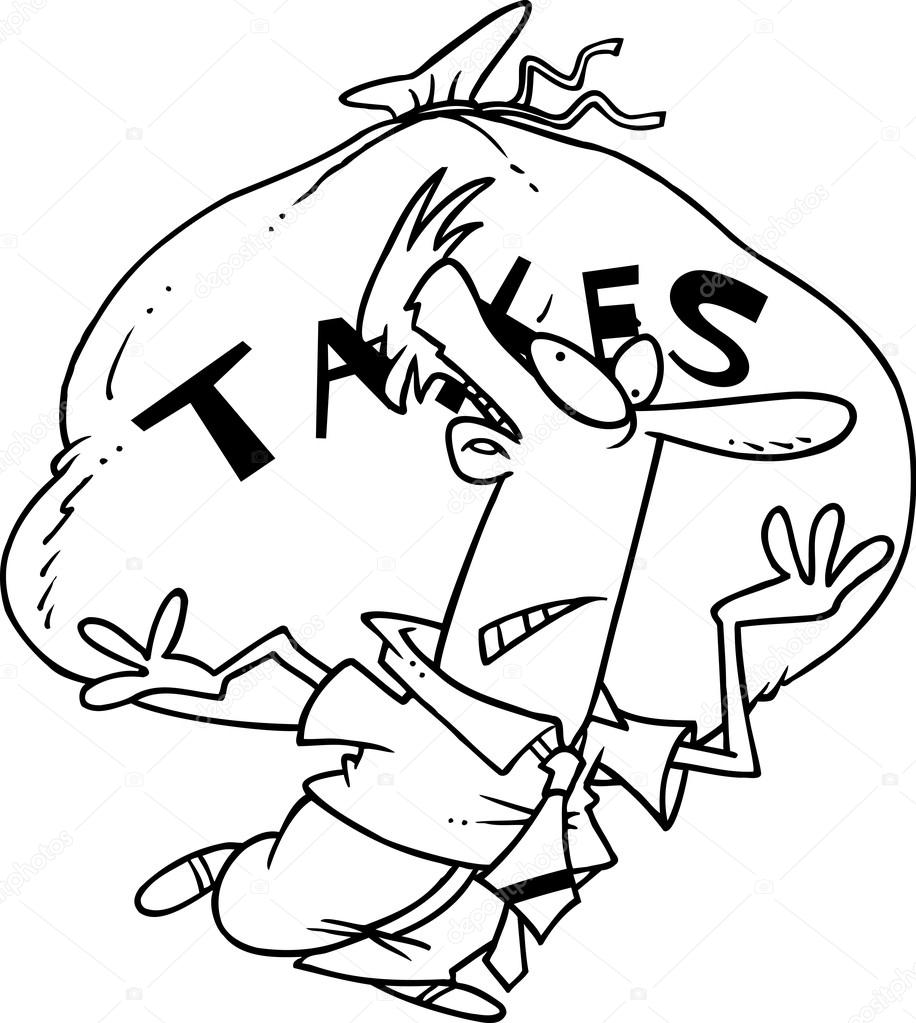 taxes clipart black and white - 581×600