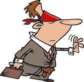 Cartoon Geschäftsunsicherheit