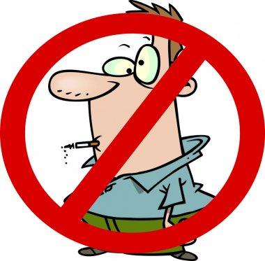 Cartoon No Smoking Sign
