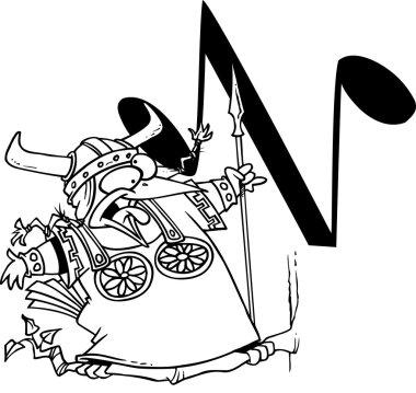 Cartoon Nightingale Alphabet Letter N