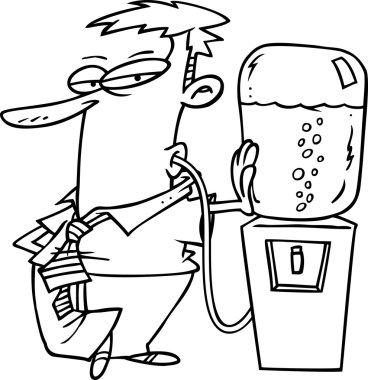 Cartoon Office Watercooler