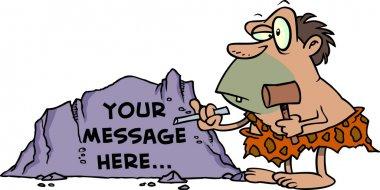 Cartoon Caveman Chisel