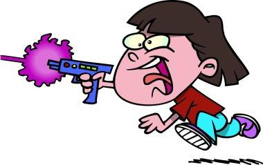 Cartoon girl laser tag
