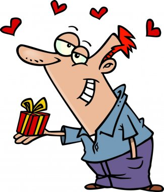 Cartoon love gift