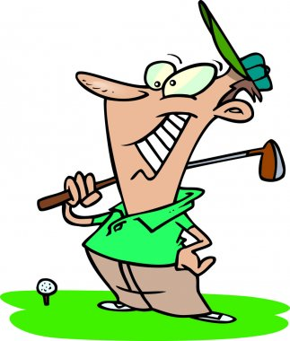 Cartoon golf player