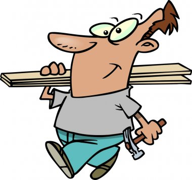 Cartoon carpenter