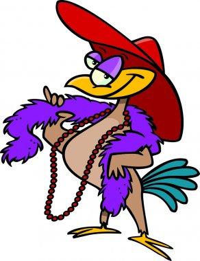 Cartoon female bird