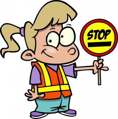 Cartoon Safety Patrol Girl