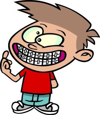 Cartoon Boy Braces