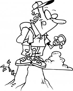 Cartoon GPS Hiker