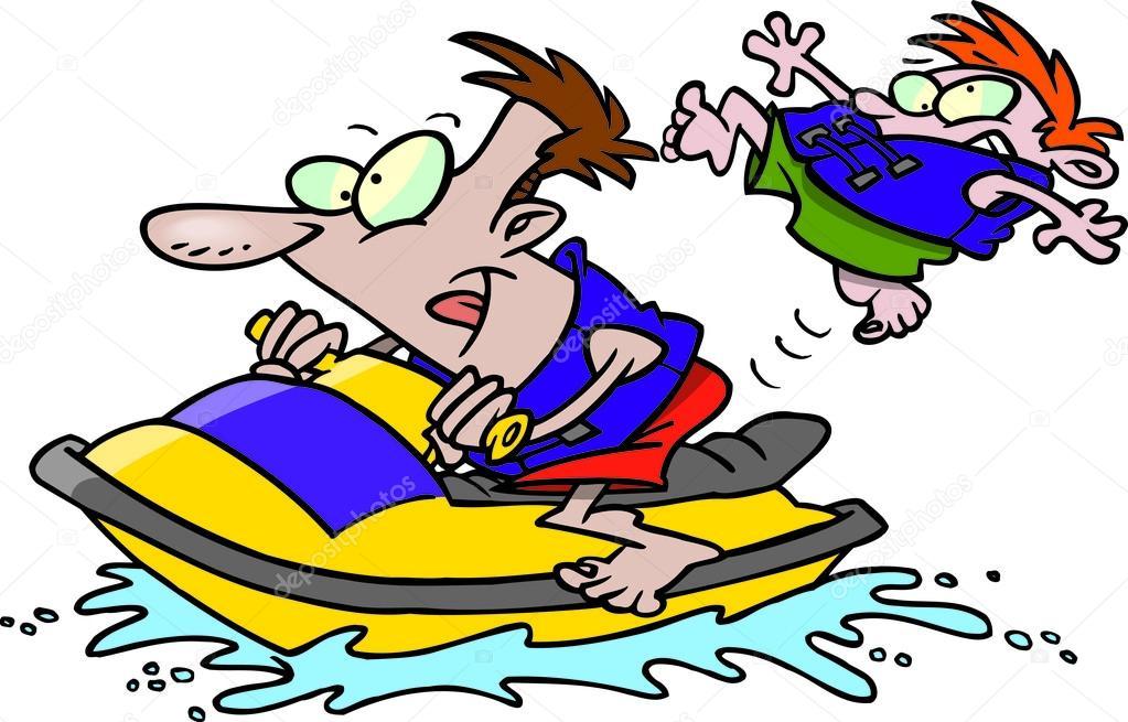 Cartoon Wave Runner Jet Ski Stock Vector C Ronleishman 13950284