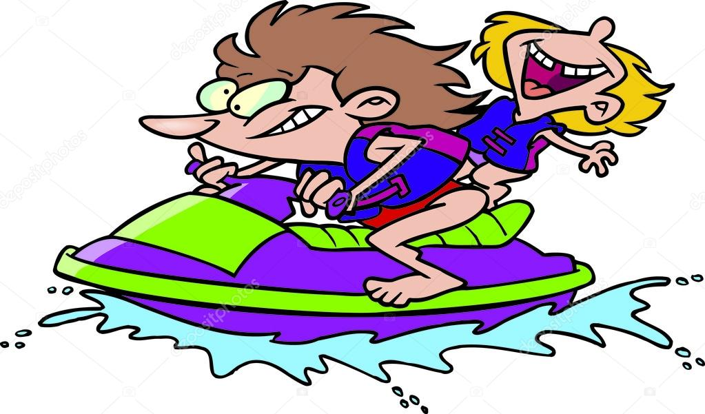 Ski de dessin anim wave runner jet image vectorielle ronleishman 13950290 - Jet ski dessin ...