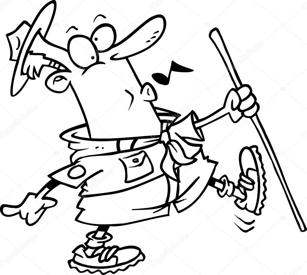 Maestro explorador de dibujos animados — Archivo Imágenes ...