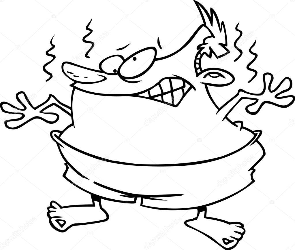 Cartoon Sunburn — Stock Vector © ronleishman #13950956