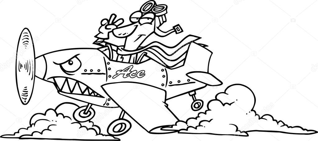 Cartoon Fighter Pilot Stock Vector 169 Ronleishman 13950973