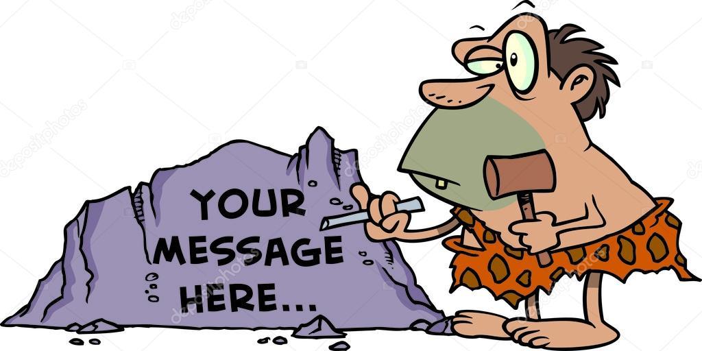 Cartoon Caveman Chisel Stock Vector Ronleishman 13951080