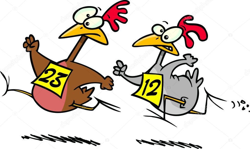 Course de poulet de dessin anim image vectorielle ronleishman 13951083 - Dessin de course a pied ...