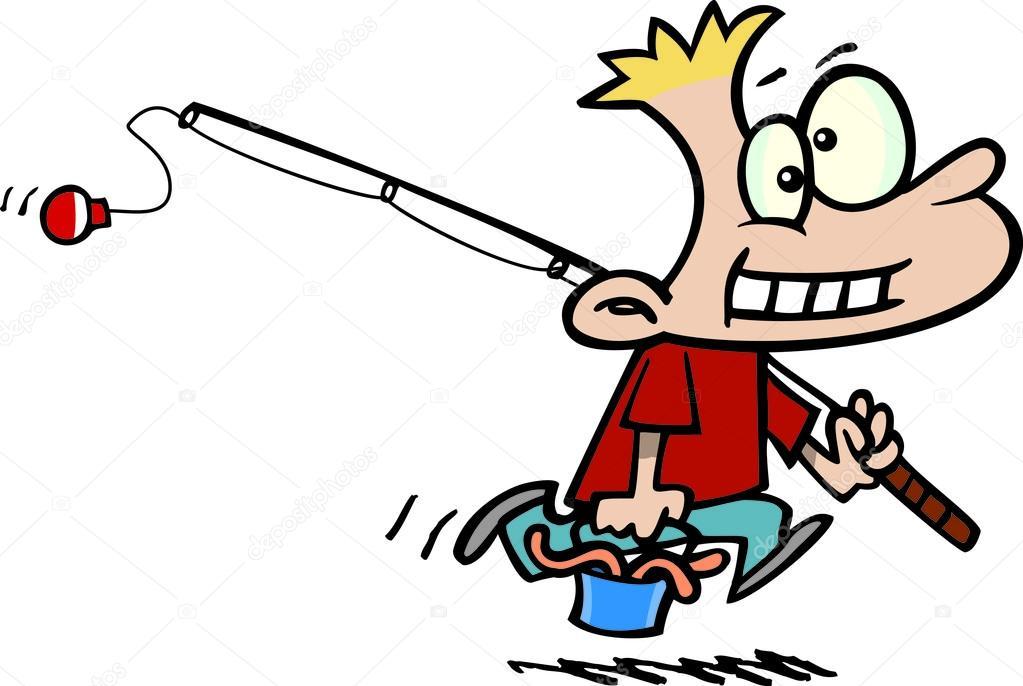 Kreslene Chlapce Rybareni Stock Vektor C Ronleishman 13951247