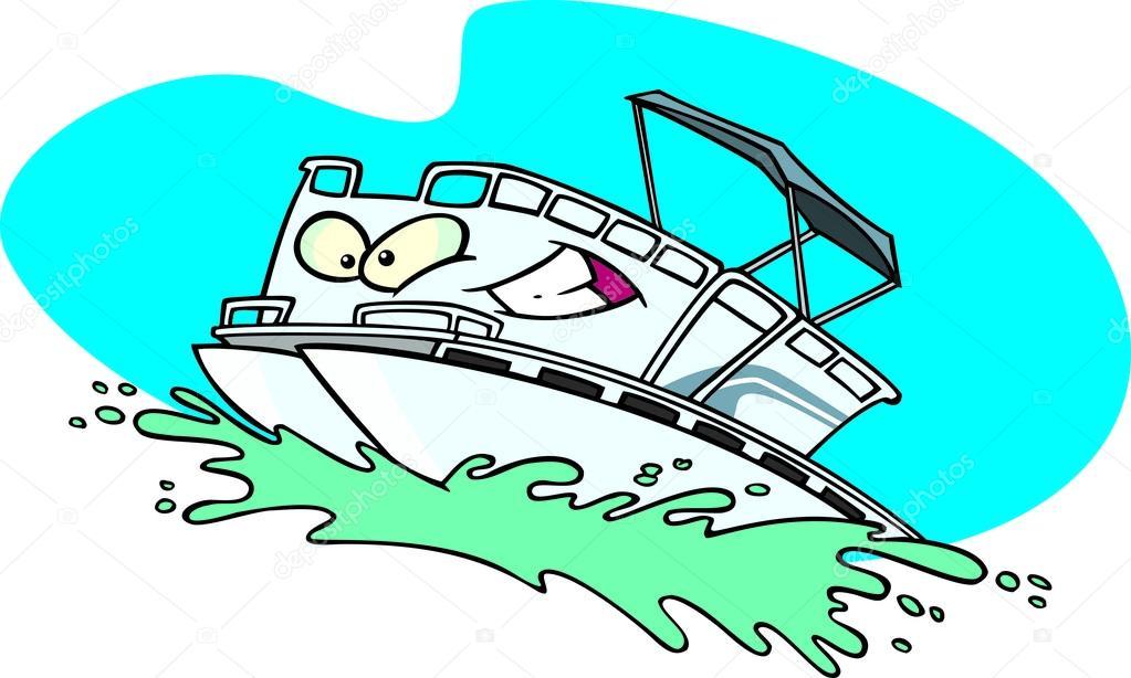 Preferred Cartoon Pontoon Boat — Stock Vector © ronleishman #13951354 AH41