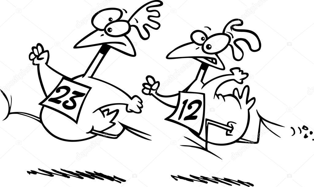 Course de poulet de dessin anim image vectorielle ronleishman 13951550 - Dessin de course a pied ...