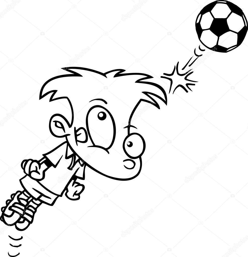 Cartoon Junge Fussball Stockvektor C Ronleishman 13951660