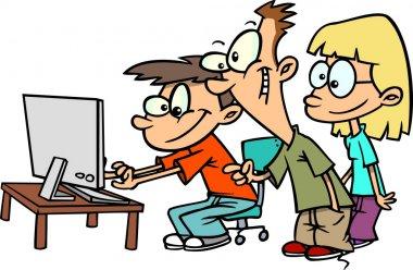 Cartoon computer lab