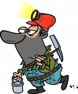 Cartoon coal miner