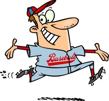 Cartoon Confident Baseball Player