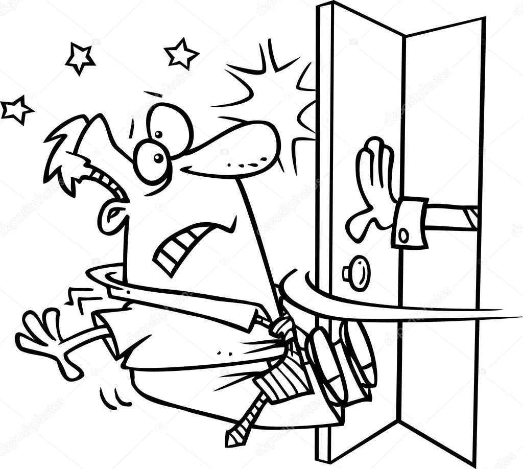 Mano Abriendo Puerta Dibujo Dibujos Animados De Mano Abrir