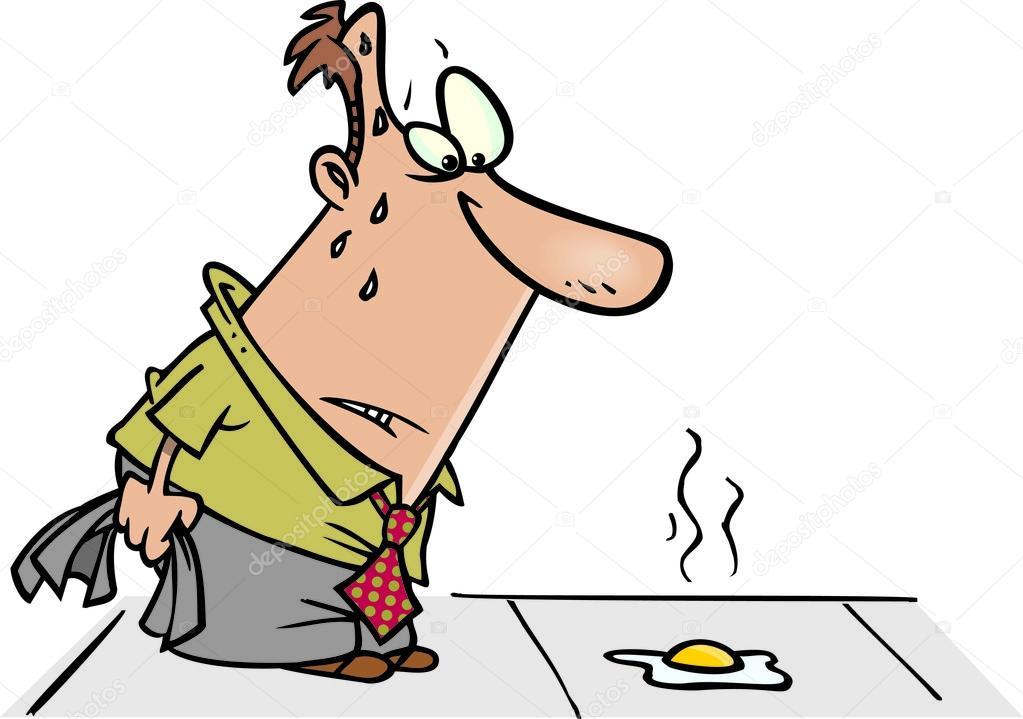 Cartoon Sidewalk Fried Egg — Stock Vector © ronleishman #13979945