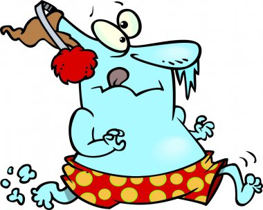 Cartoon Ice Swimmer