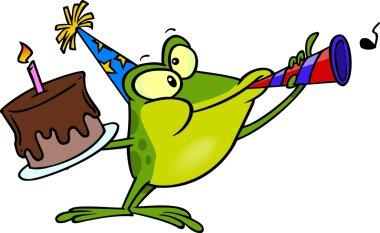 Cartoon Party Frog