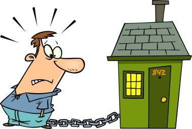 Cartoon Mortgage Debt Chains