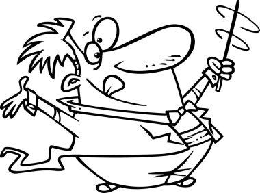 Cartoon Maestro Conductor