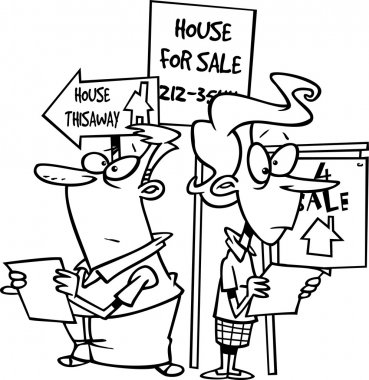 Cartoon House Hunting