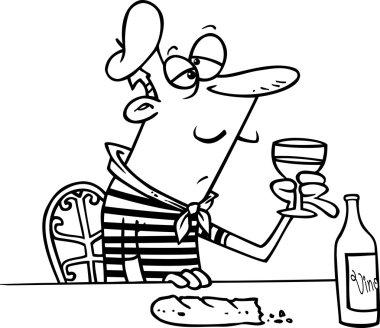 Cartoon Frenchman