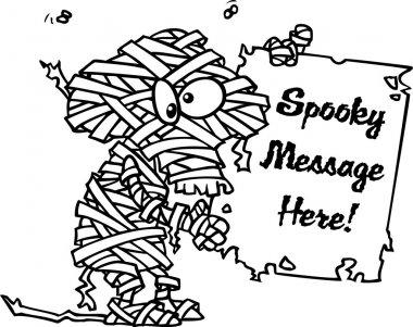 Cartoon Mummy Sign
